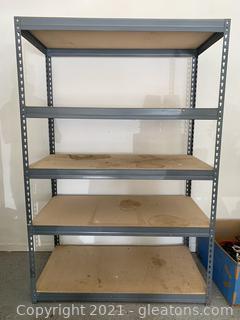 Gray Heavy Duty Metal Shelf