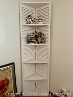 Hand Painted Corner Shutter Shelf