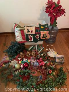 A Bundle of Christmas Stockings Wreaths Lights and More
