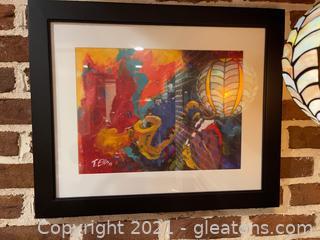 Framed & Signed Artwork by T. Ellis