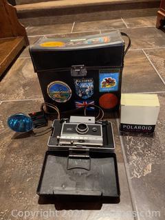 Camera Case W/ Polaroid Land Camera & Accessories