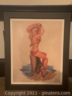 Framed Pinup in Bikini