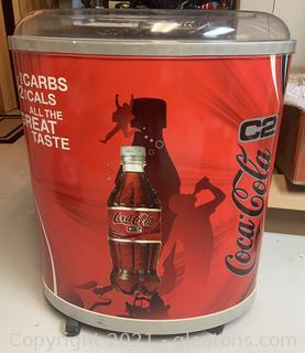 Coca Cola Rolling Floor Display Cooler