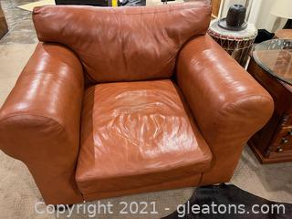Old Hicory Tannery Leather Club Chair