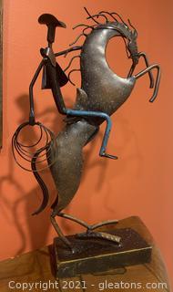 Metal Western Sculpture