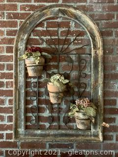 Wall Mural with 3 Planters