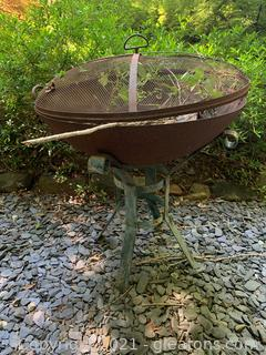 Back Yard Firepit and Stand