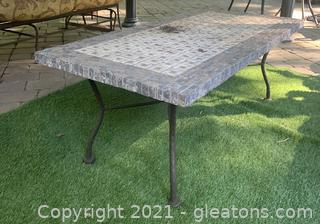 Rectangular Stone Garden Table