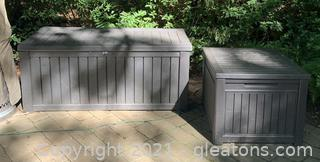 Two Outdoor Storage Deck Boxes