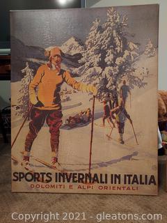 Faded Look Sports Invernali in Italia Print on Canvas