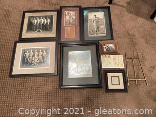 Collection of Framed Vintage Photos