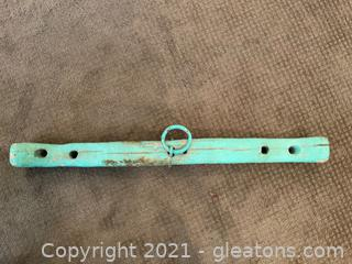 Teal Painted Cattle Yoke