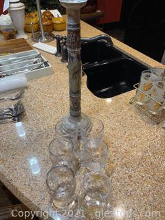 Glass & Candlestick Lot (Lot of 7)