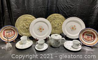 Delightful Decorative Platters and Tea Set