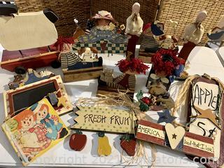 Bin of Handmade Cottage Crafts