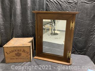 Apothecary Medicine Cabinet and French Bourbon Crate