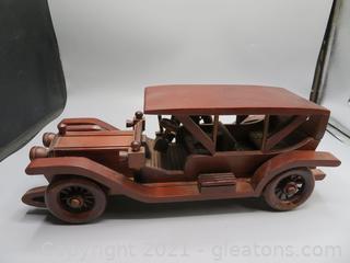 Antique Vintage Wood Car – Classic Car Wooden Art Collection