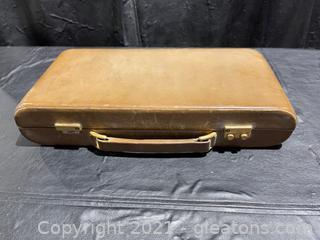 Circa 1960's Leather Case Grooming/Vanity Kit