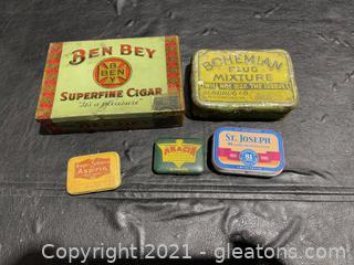 Tin Box Lot (Lot of 5)
