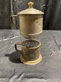 1960's Chrome Espresso/Tea Infuser & Cup