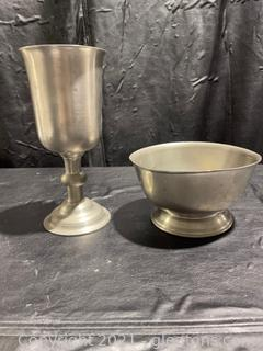 Crown And Rose & Woodbury Pewters Lot