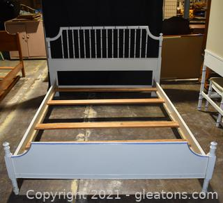 Thomasville Faux Bamboo Full Bed Frame with Wood Slats