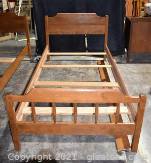 """Mid Century Maple Twin Bed Frame """"A"""""""
