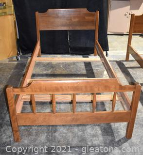 """Mid Century Maple Twin Bed Frame """"B"""""""