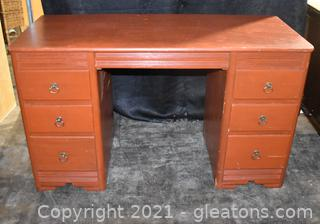 Painted Wood Student Desk