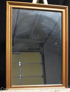 Bronze Gold Painted Wood Mirror