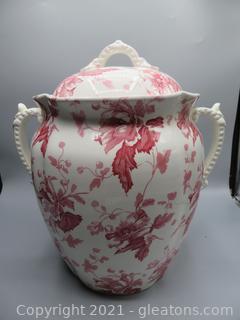 Floral Furnival Covered Urn