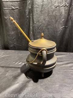 Cast Iron Fire Starter Cauldron with Pumice Wand