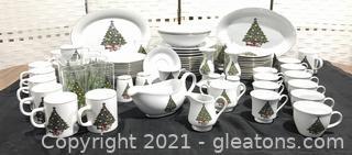 Christmas Tree Fine China Set-Service for 12