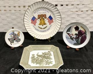 Eclectic Vintage Plate Collection