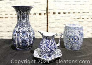 Gorgeous Blue and White Ceramic Lot