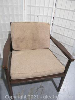 Beautiful Refinished Mid-Century Modern Chair
