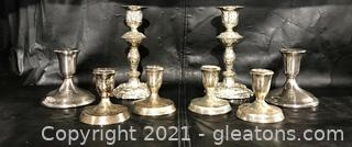 Silver Plated Candlestick Lot
