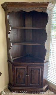 Thomasville Corner Butler Pantry with Plate Rack