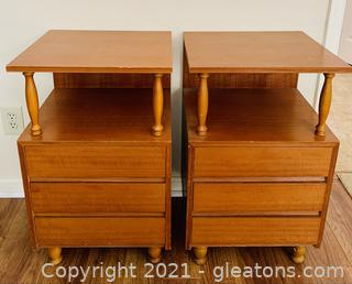 Interform Asian Mid Century Side Tables