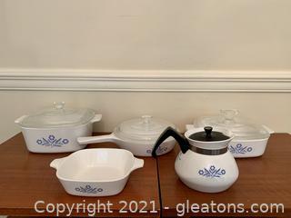 Corningware Blue Cornflower Set