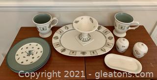 PFalzgraff Naturewood 11 Piece Stoneware Serving Set