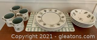 PFalzgraff Naturewood 12 Piece Stoneware Dinnerware Set
