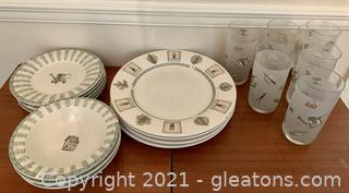 PFalzgraff Naturewood 18 Piece Stoneware Dinnerware Set