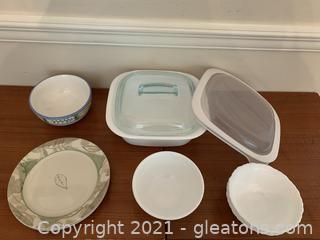 Corelle, Corningware and Capri Serving Lot