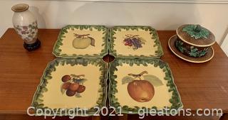 Italian Handmade Plates and Tchotchkes