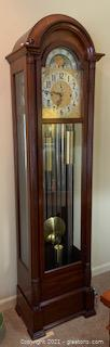 Herschede Triple Chime Moonphase 9 Tube  Grandfather Clock