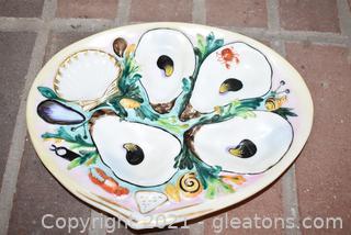 Antique Union Porcelain Oyster Plate