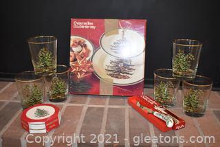 """Classic Spode """"Christmas Tree"""" Essentials"""