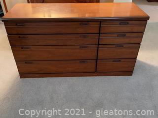 8 Drawer Mid Century Modern Dresser