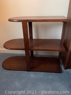 Wood 3 Shelf Side Table
